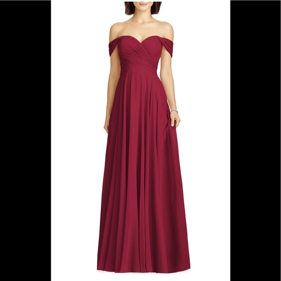 5a88ba0f5cb NWT Dessy Collection Lux off the shoulder gown. Listing Price   75.00